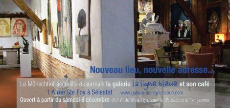 Un nouvel emplacement pour la galerie La Ligne Bleue à Sélestat