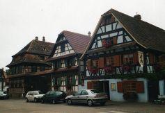 Une vue du quartier historique de Geispolsheim.