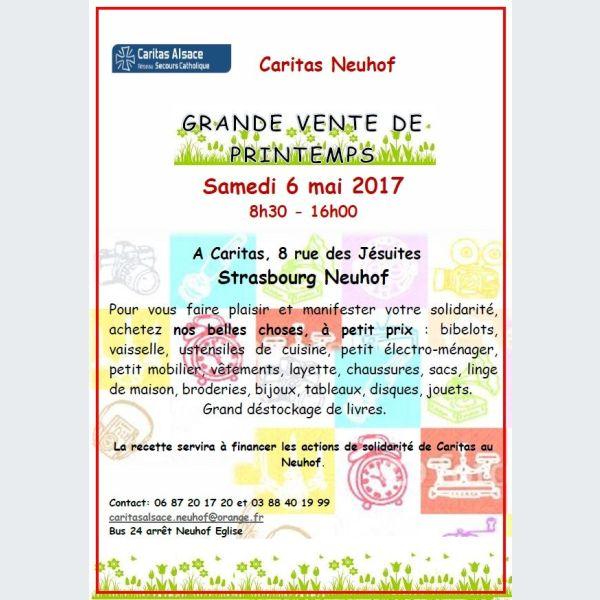 3d8cb1727b Grande vente de printemps - Caritas Strasbourg Neuhof