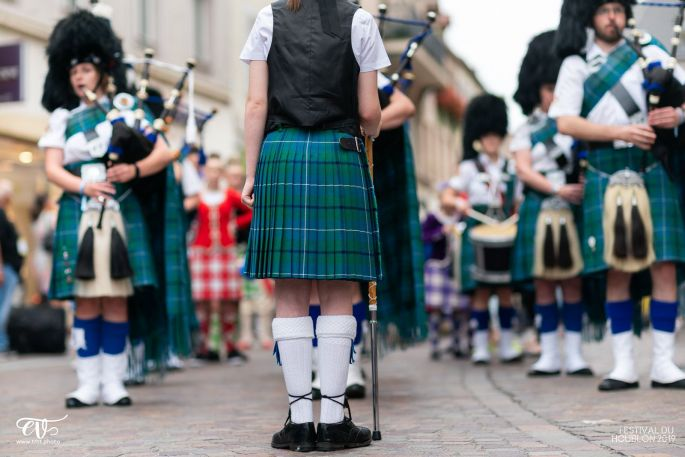 Toutes les cultures du monde sont représentées à Haguenau - ici le Buccleuch and Queensberry Caledonia Pipe Band