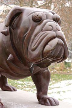 Hector, le bulldog est installé depuis décembre 2010 dans le Parc des Sculptures