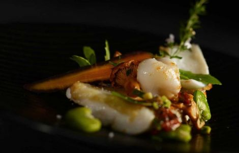 Toute la créativité des assiettes du restaurant étoilé L\'Hostellerie du Rosenmeer