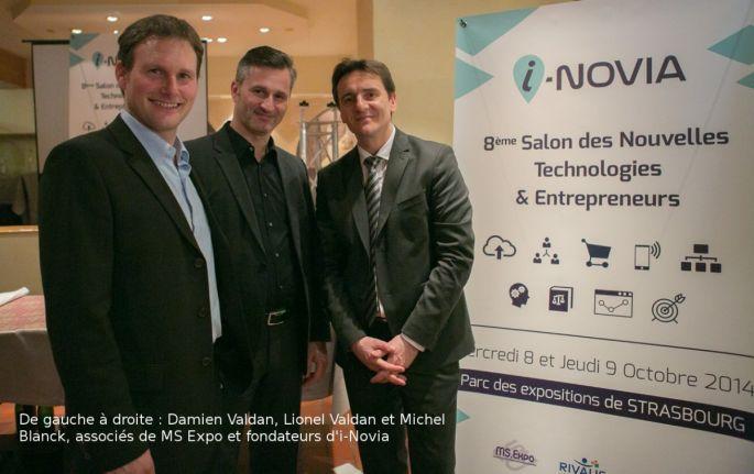 Damien Valdan, Lionel Valdan et Michel Blanck, associés de MS Expo et fondateurs d\'i-Novia