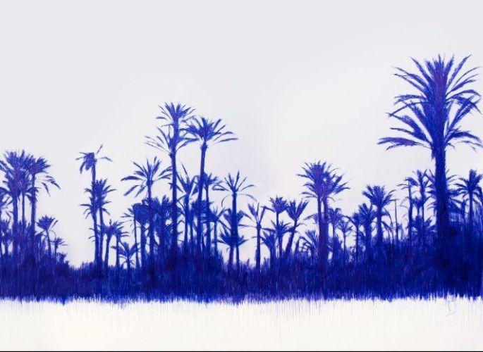 Il fit surgir cinq palmiers bleus