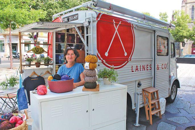 Andrea Tschernig a adapté le concept du food truck à la laine