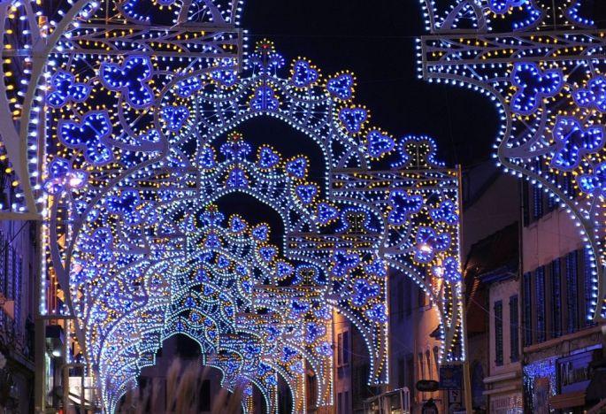 Les illuminations de Montbéliard, au moment de Noël