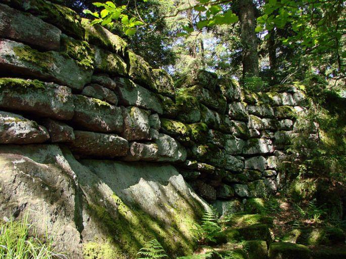 Immergé dans la forêt, le mur païen émet une certaine aura mystique