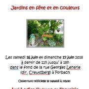 Jardins en fête et en couleurs à Forbach 2018