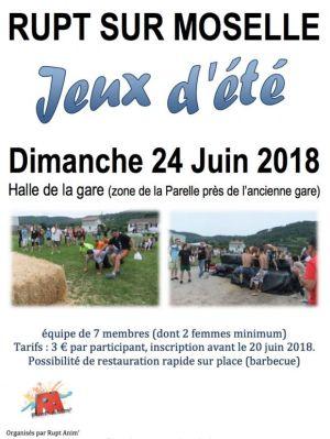 Jeux d\'été à Rupt-sur-Moselle 2018