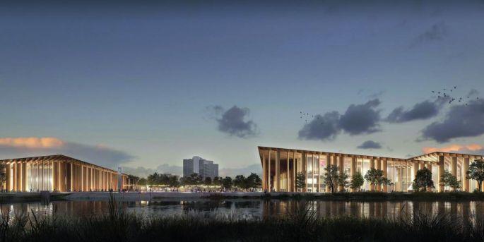 Le futur Parc Expo de Strasbourg imaginé par Kengo Kuma