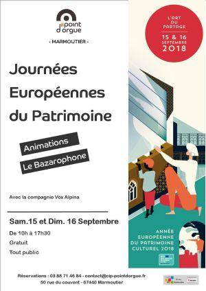 Journées du Patrimoine 2018 à Marmoutier