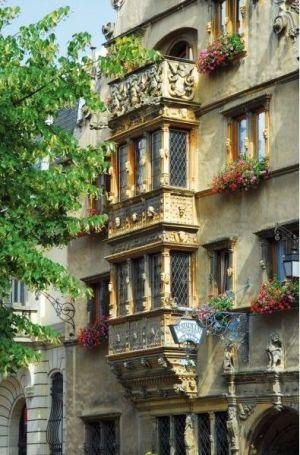 Colmar, les trésors de la ville. Ici la Maison des Têtes