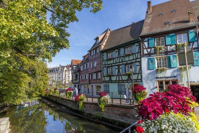 La beauté des maisons à colombages de Colmar