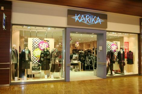 La devanture de Karika, à l\'intérieur du centre commercial Cora Witty