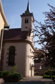 L\'église principale de Schiltigheim accueille les paroissiens lors de leurs cultes protestants