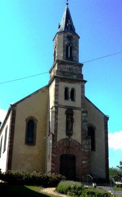 L\'église Saint-André d\'Eichhoffen a été construite en 1865
