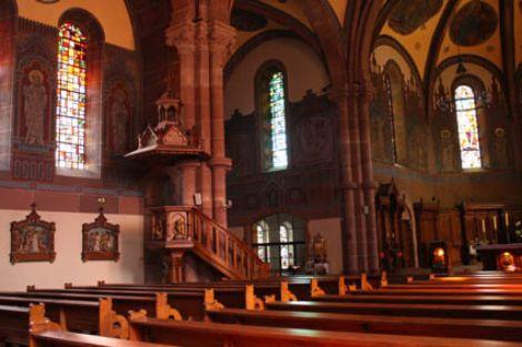 L\'intérieur de l\'Eglise Saint Martin de Niederbronn-les-Bains