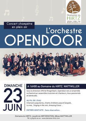 L\'orchestre Opendoor en concert au Domaine du HIRTZ