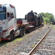 L\'unique et gigantesque 141 C arrive au Train Thur Doller !
