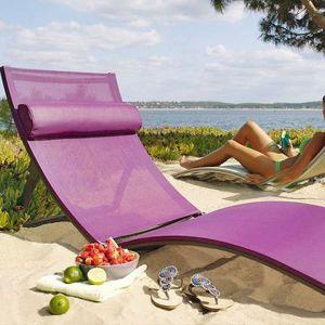Miracle, cette chaise longue fait aussi lit pliant! Toile en polyester. Prix: 169€ chez Jardiland.
