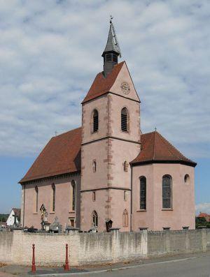 La Chapelle Notre-Dame-du-Chêne se situe dans la commune de Blotzheim, dans le Sud du Haut-Rhin
