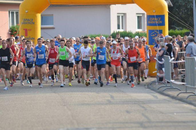 La fameuse course : La ronde des bucherons en marge de la fête des bûcherons à Schirrhein
