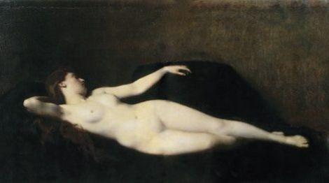 Jean-Jacques Henner, La femme au divan noir