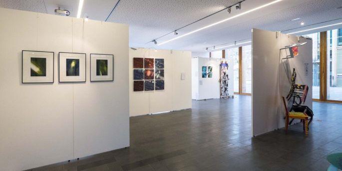 Les locaux de la Fibule lors de l\'exposition des artistes de Brum\'Art