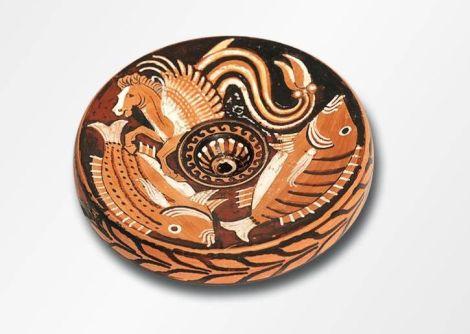 La jeune fille et la mer - Apulien (Canosa)- Hippokamp-Maler- Drittes Viertel 4. Jh.v.Chr. - Leihgeberin: Sammlung Florence Gottet