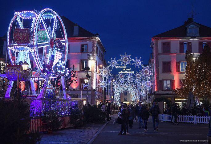 La lumière est partout à Montbéliard pour les fêtes de fin d\'année