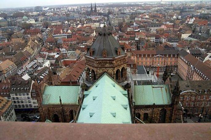 La magnifique vue offerte par la plateforme de la cathédrale