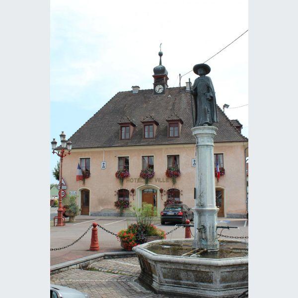 Vélo : piste cyclable de Bartenheim à Blotzheim, carte, plan ...