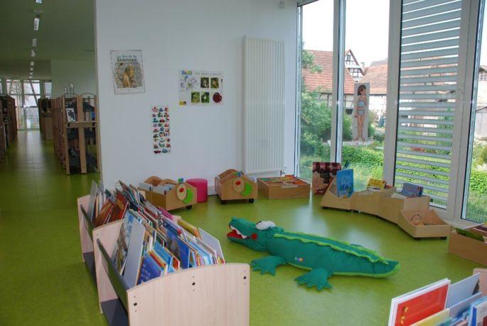 La médiathèque de Soultz-sous-Forêts a aménagé un espace pour les plus petits