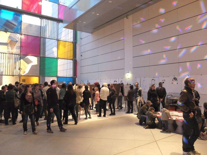 Les visiteurs sont nombreux à venir profiter d\'une nuit au musée à Strasbourg