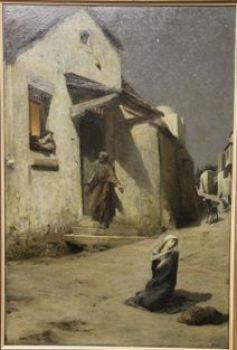 La peinture religieuse du 19e siècle - Arrivée à Bethleem, Luc-Olivier Merson