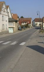 La rue de Thann à Aspach, dans le Sundgau