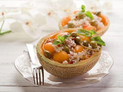 La salade de Melon dans son écorce