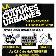 La Semaine des Cultures Urbaines 2018