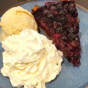 La tarte aux myrtilles et son fond spéculoos