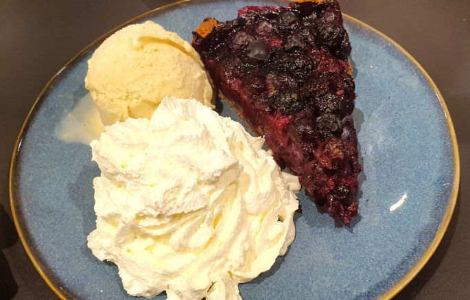 La gourmandise d\'une tarte à la myrtille !