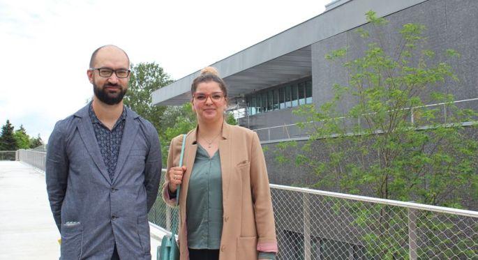 Jérémy Goltzéné, le directeur et Yasmin Ulrich des relations publiques: une team franco-allemande