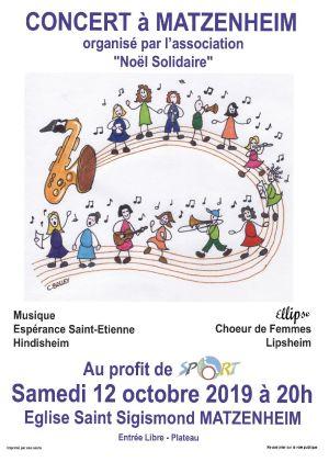 Le Chœur de femmes Ellipse de Lipsheim et l'Harmonie Musique Espérance de Hindisheim