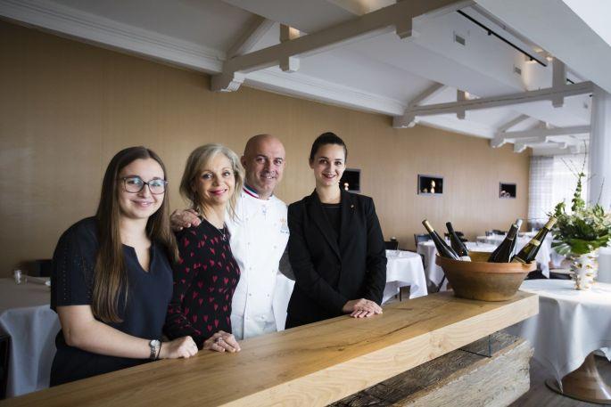 La famille Nasti, dans le restaurant du chef étoilé