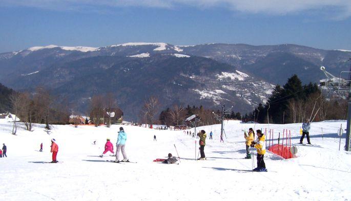 Vue sur la station de ski du Frenz