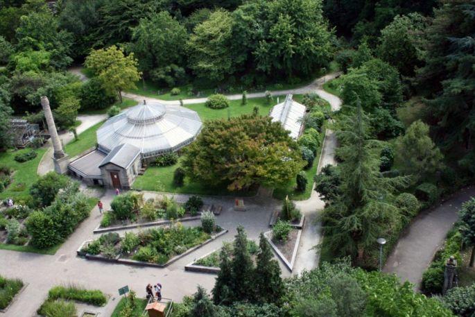 Le Jardin Botanique de l\'UDS (Université de Strasbourg) vu d\'en haut