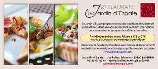Restaurant le Jardin d\'Espale