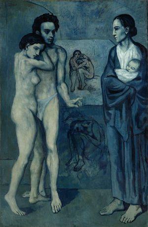 Pablo Picasso, La Vie, 1903, Öl auf Leinwand, 197 x 127,3 cm, The Cleveland Museum of Art, Schenkung Hanna Fund 1945.24, © Succession Picasso / ProLitteris, Zürich 2018, © The Cleveland Museum of Art
