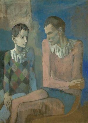 Pablo Picasso, Acrobate et jeune arlequin, 1905, Gouache sur carton, 105 x 76 cm, Collection privée