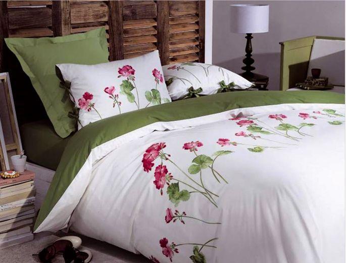 Le linge de lit géranium