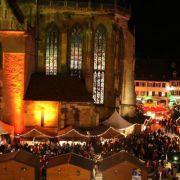 Inauguration du marché de Noël 2010 à Thann